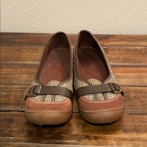 Land's End Brown Slip On